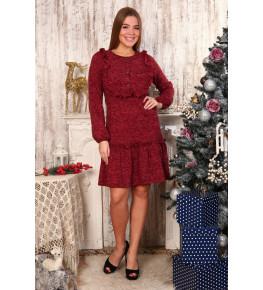 Д480 Платье Аманда пуговицы (бордо)