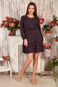 Д480 Платье Аманда пуговицы (баклажан)
