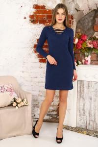 Д482 Платье Афродита со шнурком (синее)