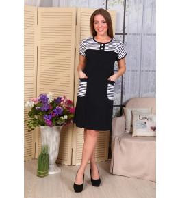 Д487 Платье Мишель (полоса+т.син.)