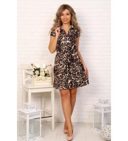 Д489 Платье Альбина (леопард)