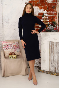 Д494 Платье Яна ( тем. синее)