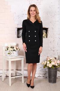 Д507 Платье Пиджак (Черное)