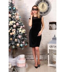 Д511 Платье Розалинда (черное)