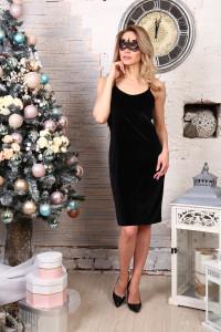 Д512 Платье Матильда (черное)