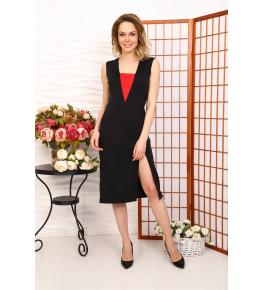 Д516 Платье Саманта (Черное с красной вставкой)