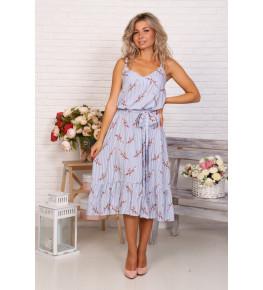Д522 Платье Прованс (цветы на полосе)