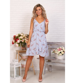 Д523 Платье Нимфа (цветы на полосе)