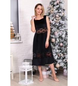 Д527 Платье Массандра (черное)