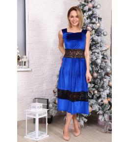 Д527 Платье Массандра (васильковое)