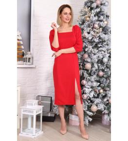 Д529 Платье Зинаида (красное)