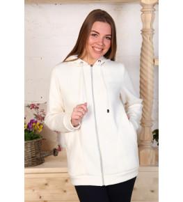 Г21 Куртка удлинённая с капюшоном футер трехнитка (белая)
